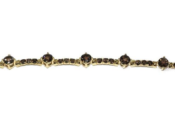 Золотой браслет сраух-топазом