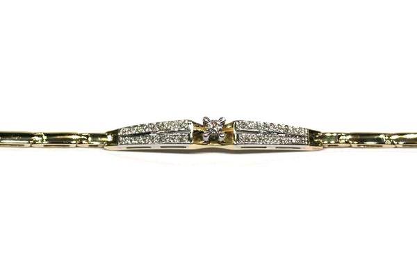 Золотой браслет сбриллиантом