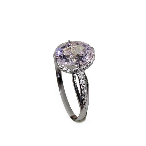 Серебряное кольцо сгорным хрусталём ифианитом