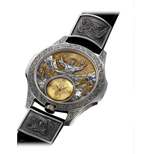 Серебряные часы счернением изолочением