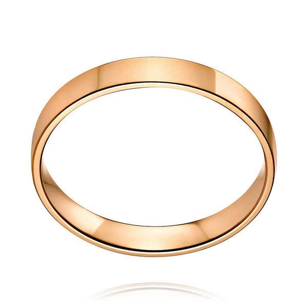 Золотое обручальное кольцо без вставок