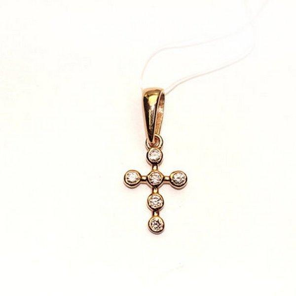 Золотой крест сбриллиантом