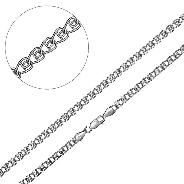 Серебряная цепь без вставок