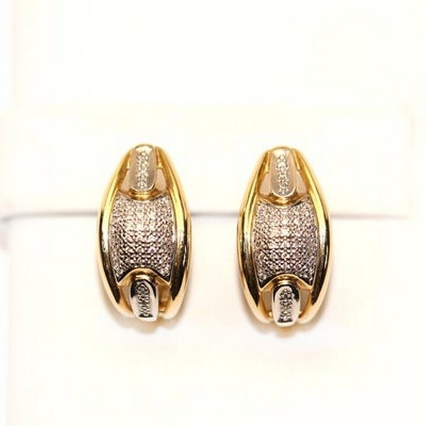 Золотые серьги сбриллиантом