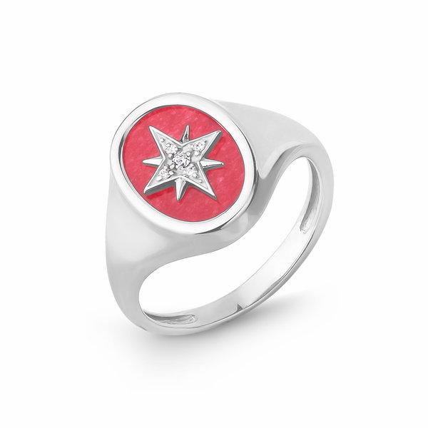 Серебряное кольцо сфианитом иагатом
