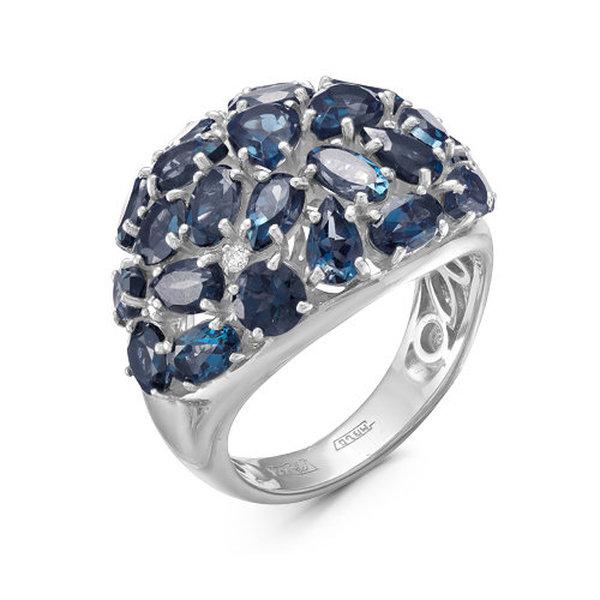 Золотое кольцо стопазом ибриллиантом