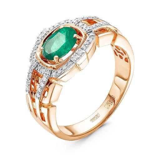 Золотое кольцо сизумрудом