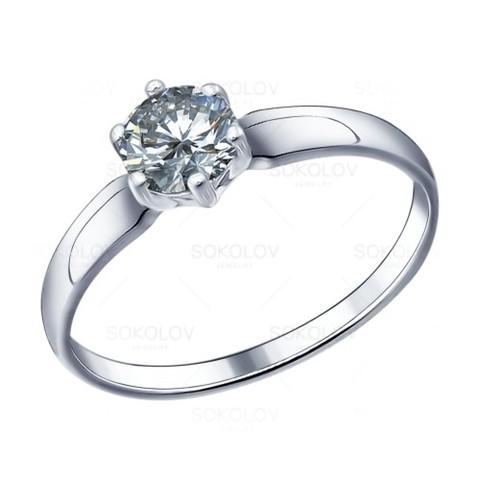 Серебряное кольцо скристаллом сваровски