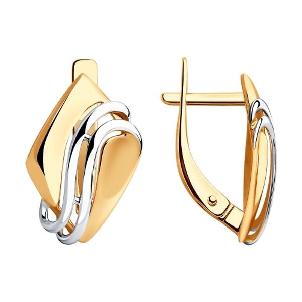 Золотые серьги без камней каталог фото слоем