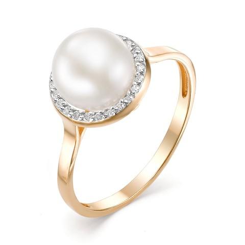Золотое кольцо сжемчугом