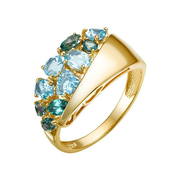 Золотое кольцо стопазом иситалом