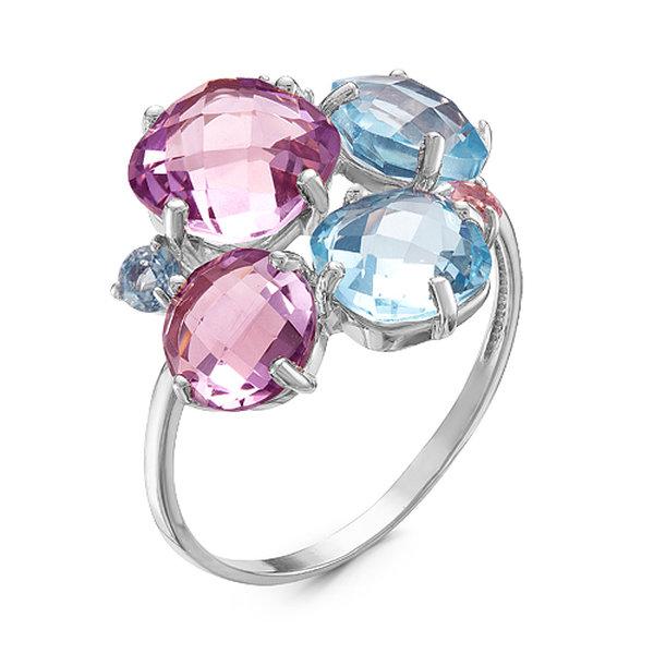 Серебряное кольцо стопазом иаметистом