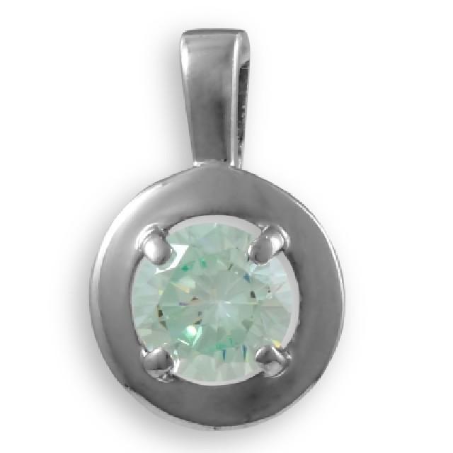 Серебряная подвеска схризолитом