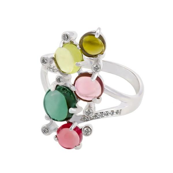 Золотое кольцо стурмалином ибриллиантом