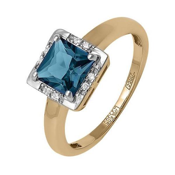 Золотое кольцо стопазом
