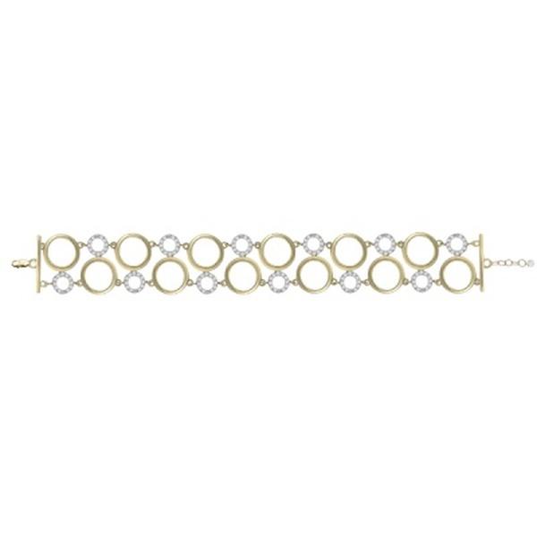 Золотой браслет сфианитом