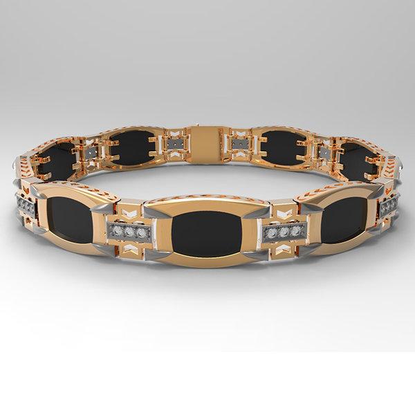 Золотой браслет сфианитом иониксом