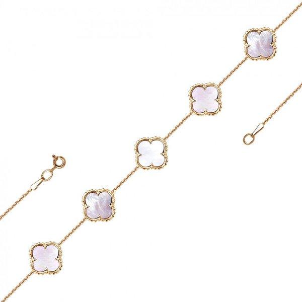 Золотой браслет сперламутром