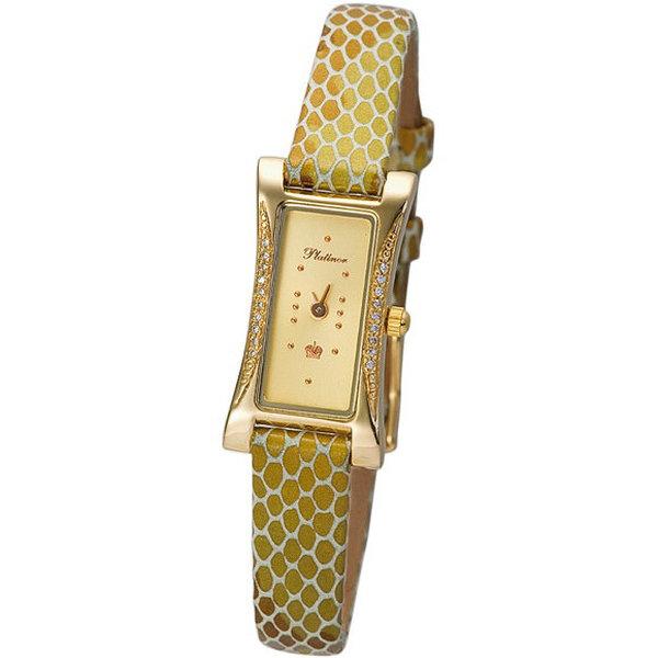 Золотые часы женские сбриллиантом
