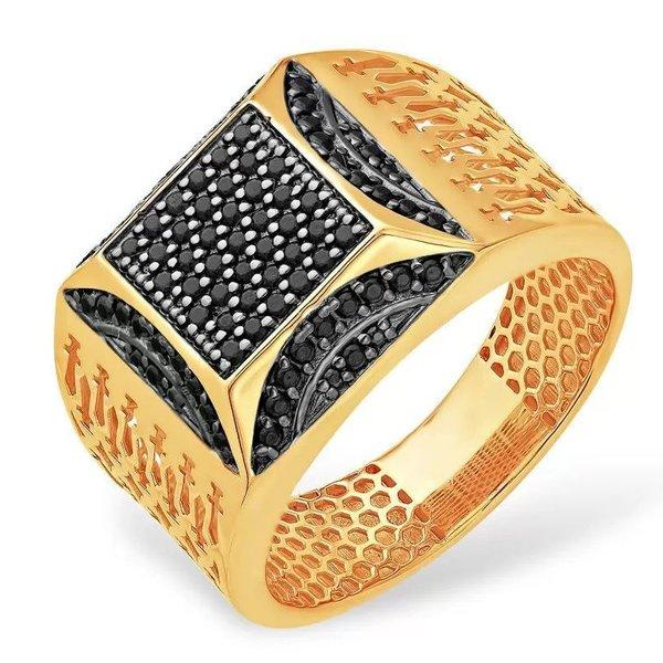 Золотая печатка сфианитом