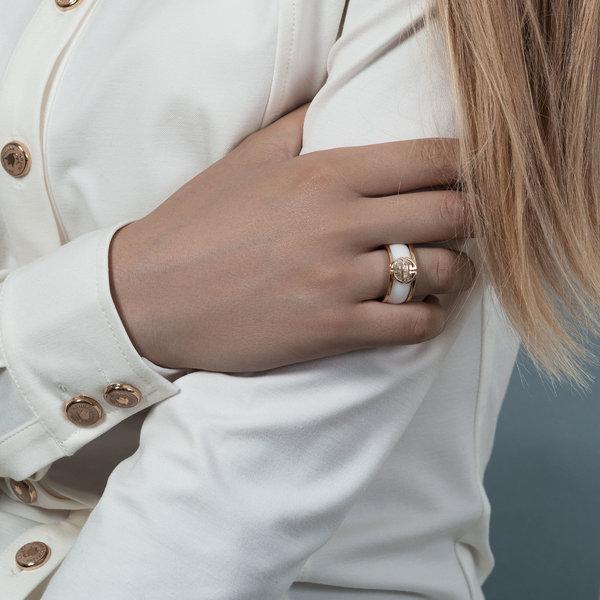 Золотое кольцо скерамикой
